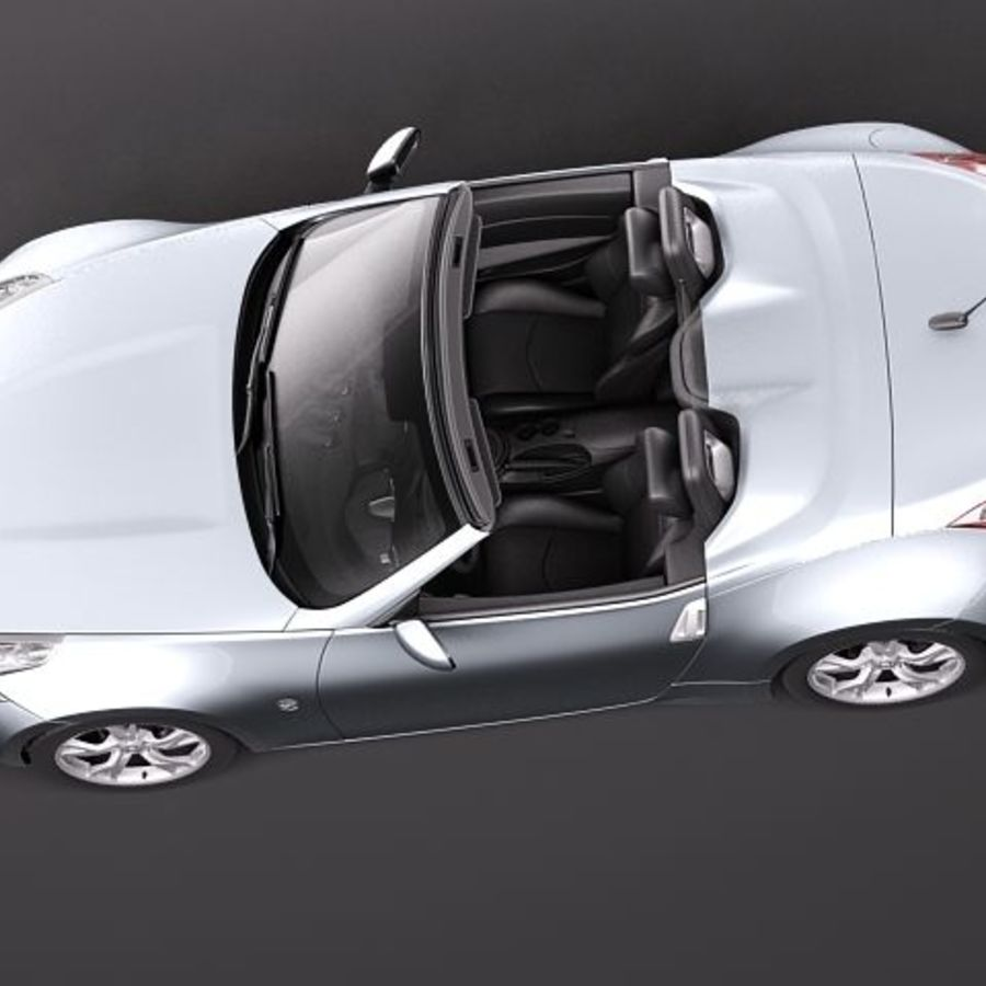 Nissan 370Z Roadster royalty-free 3d model - Preview no. 8