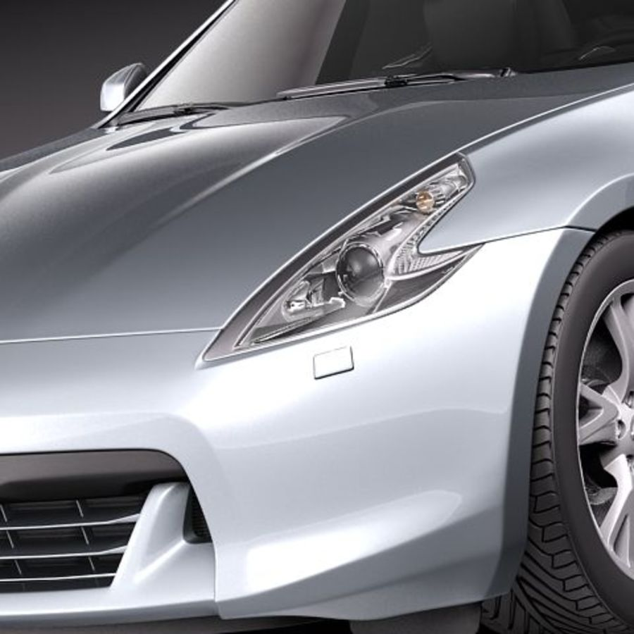 Nissan 370Z Roadster royalty-free 3d model - Preview no. 3