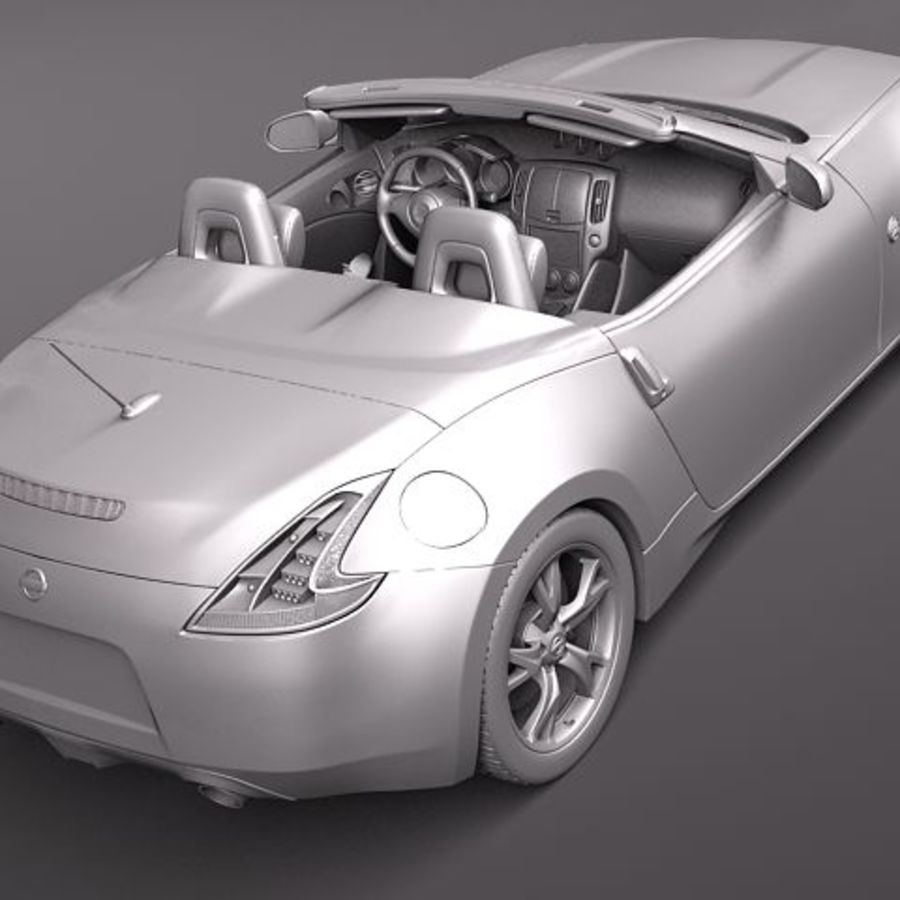 Nissan 370Z Roadster royalty-free 3d model - Preview no. 10