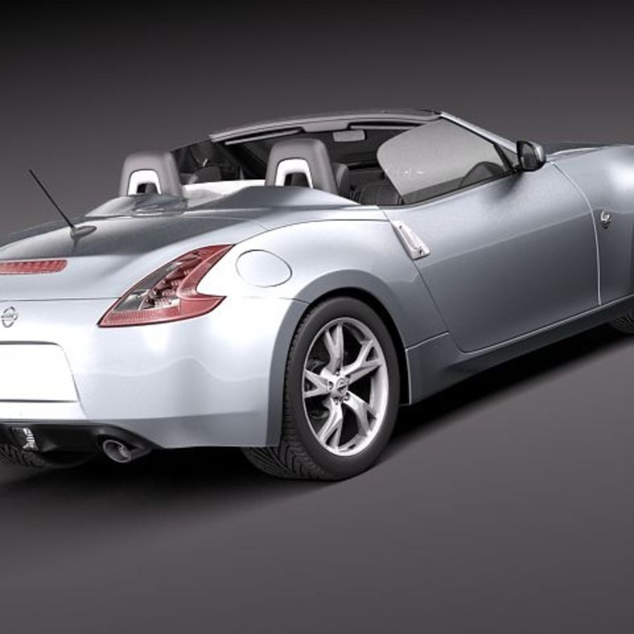 Nissan 370Z Roadster royalty-free 3d model - Preview no. 5