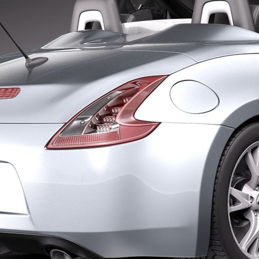 Nissan 370Z Roadster royalty-free 3d model - Preview no. 4