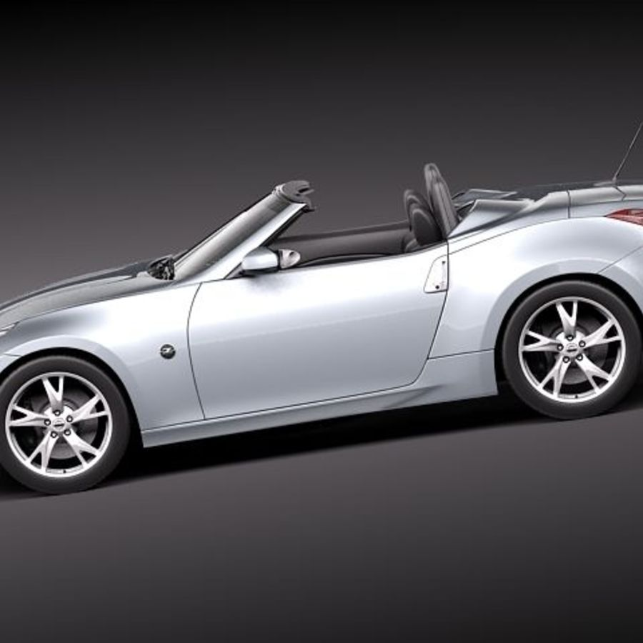 Nissan 370Z Roadster royalty-free 3d model - Preview no. 7