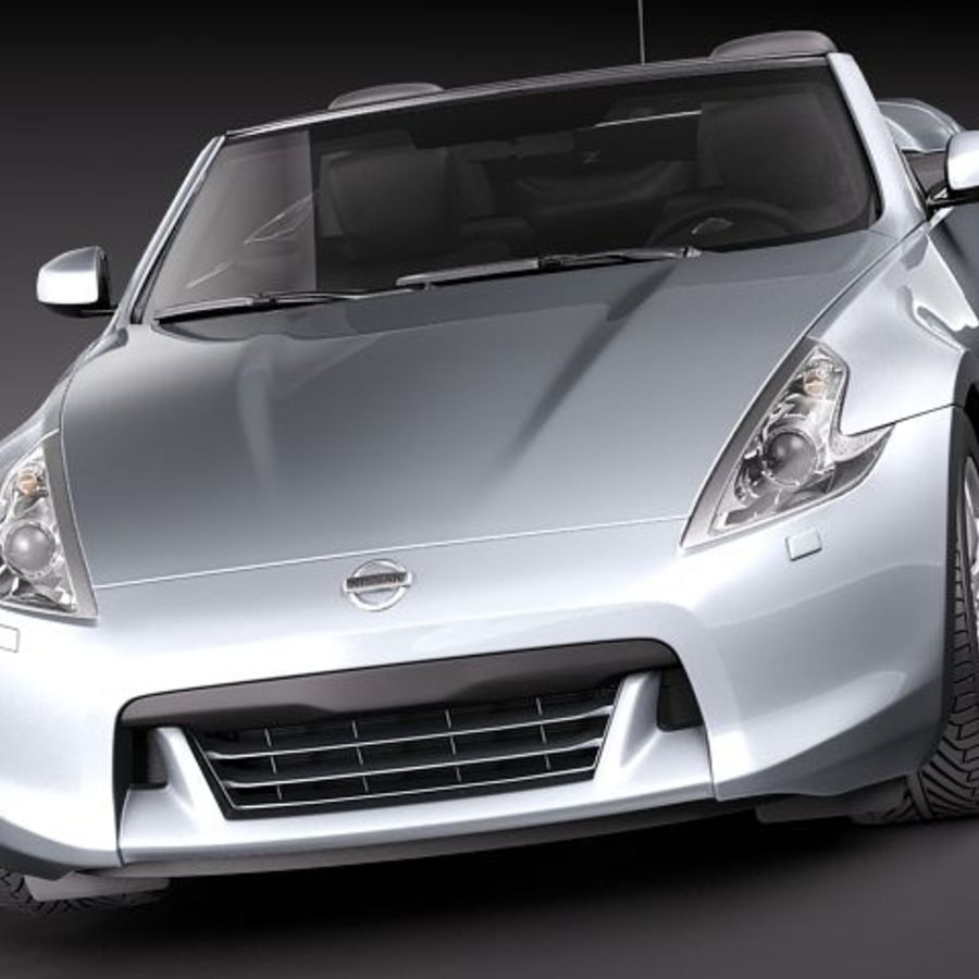 Nissan 370Z Roadster royalty-free 3d model - Preview no. 2