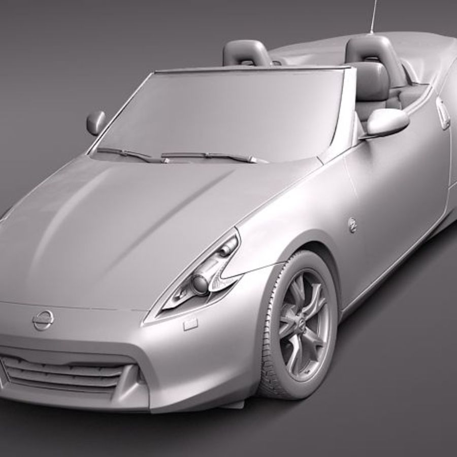 Nissan 370Z Roadster royalty-free 3d model - Preview no. 11