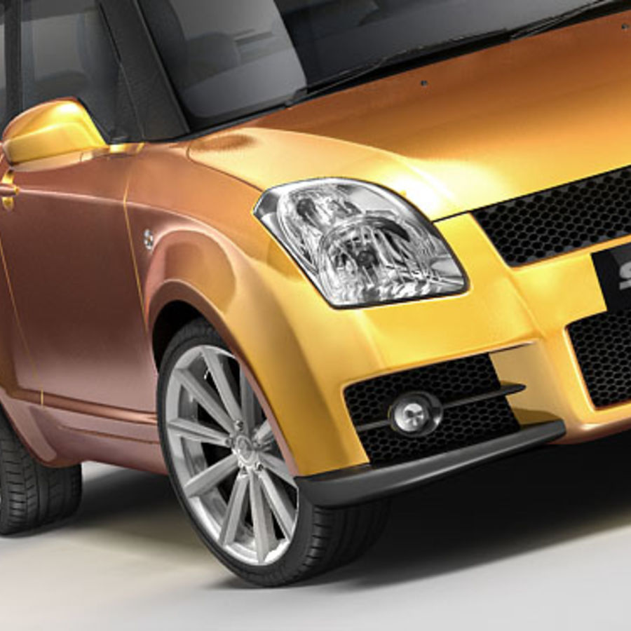 Suzuki Swift Sport royalty-free 3d model - Preview no. 2