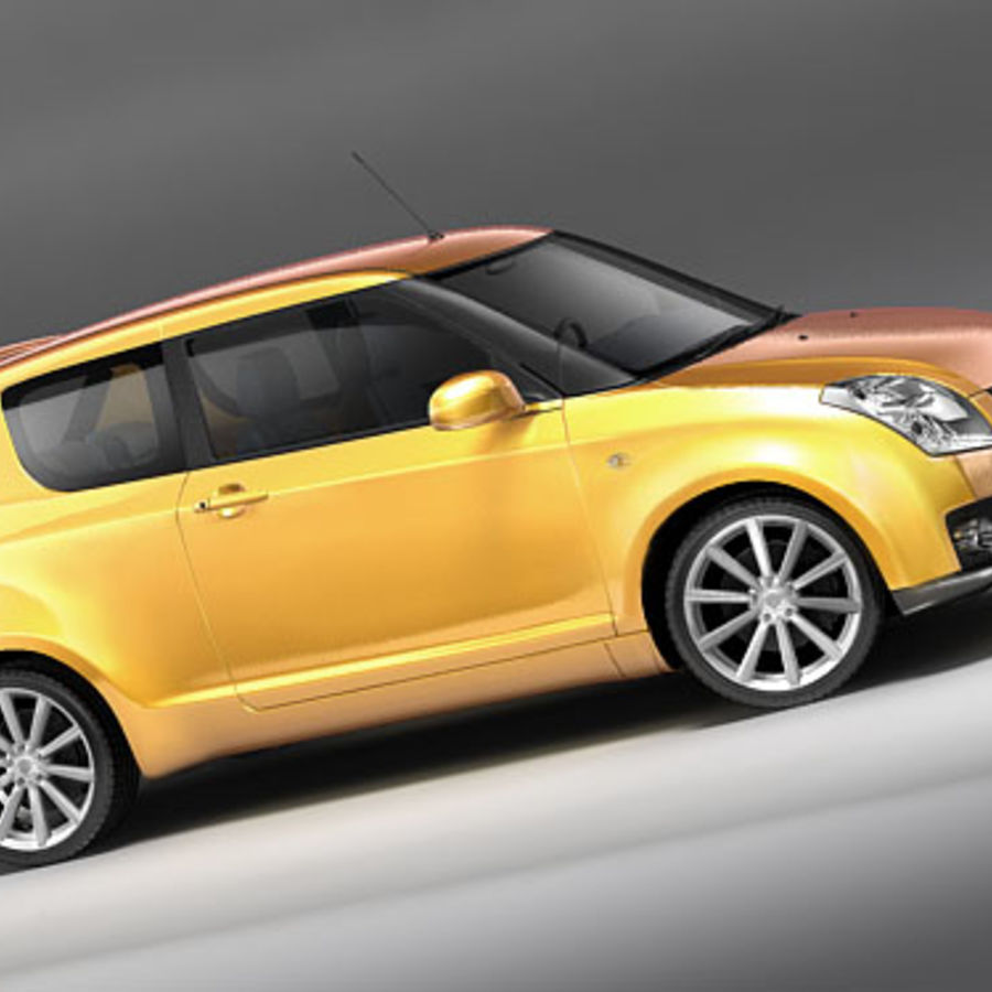 Suzuki Swift Sport royalty-free 3d model - Preview no. 3