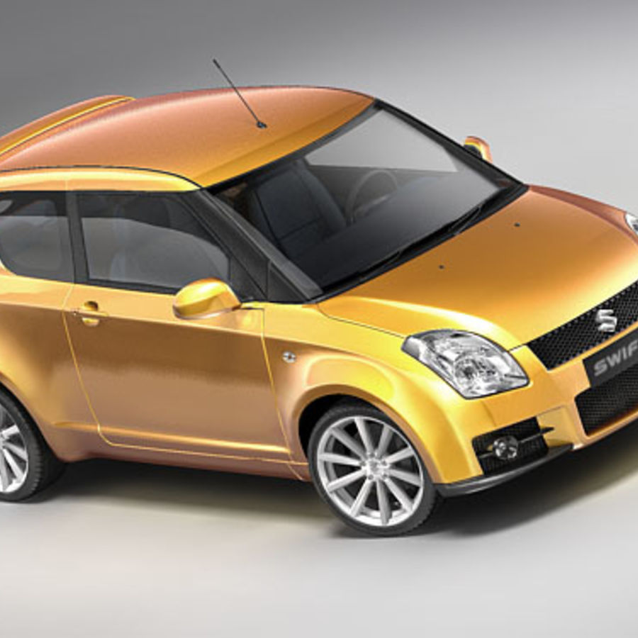 Suzuki Swift Sport royalty-free 3d model - Preview no. 1