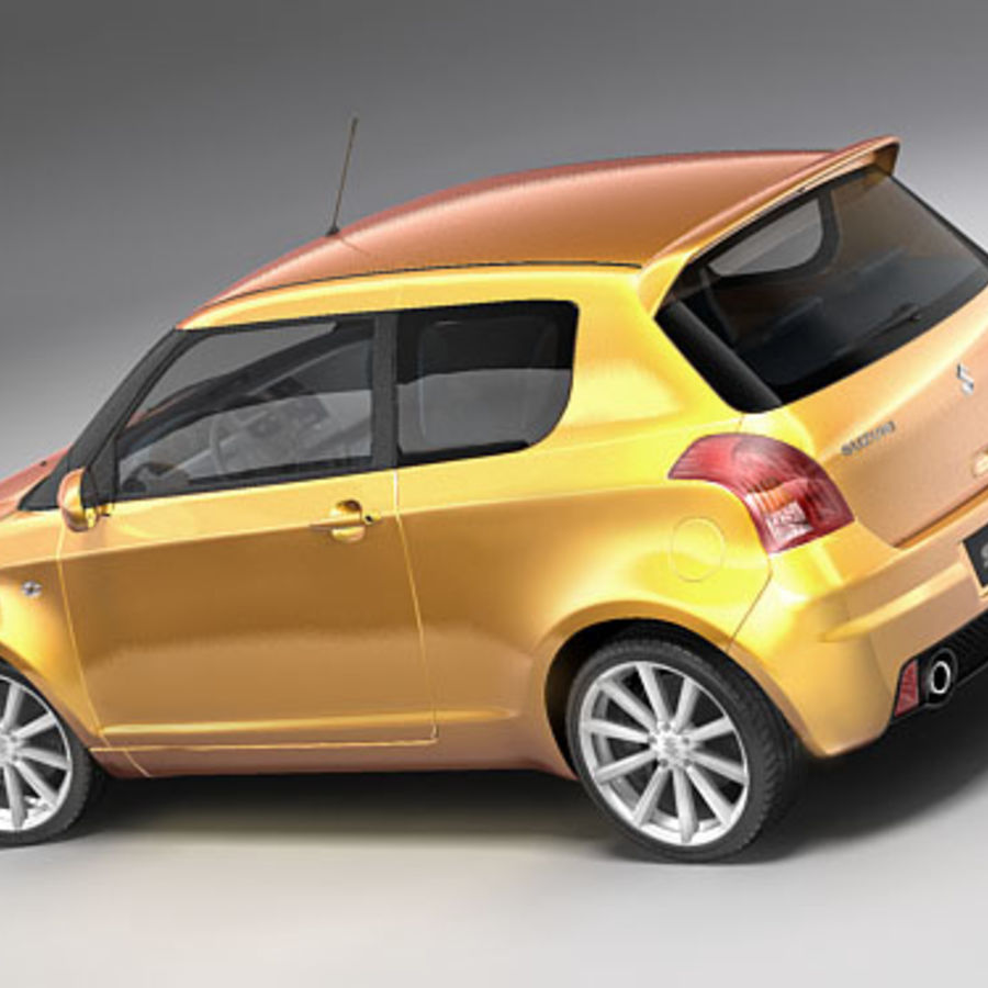 Suzuki Swift Sport royalty-free 3d model - Preview no. 4