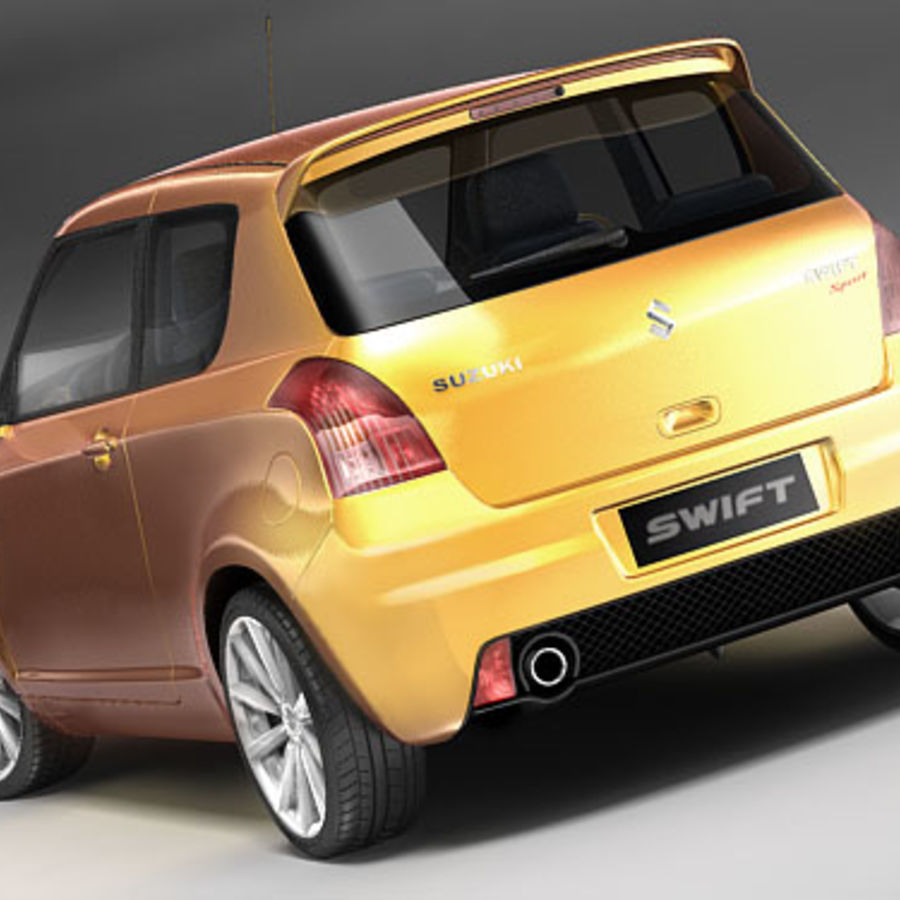 Suzuki Swift Sport royalty-free 3d model - Preview no. 5