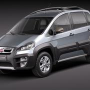 Fiat Idea Adventure 2011 3d model