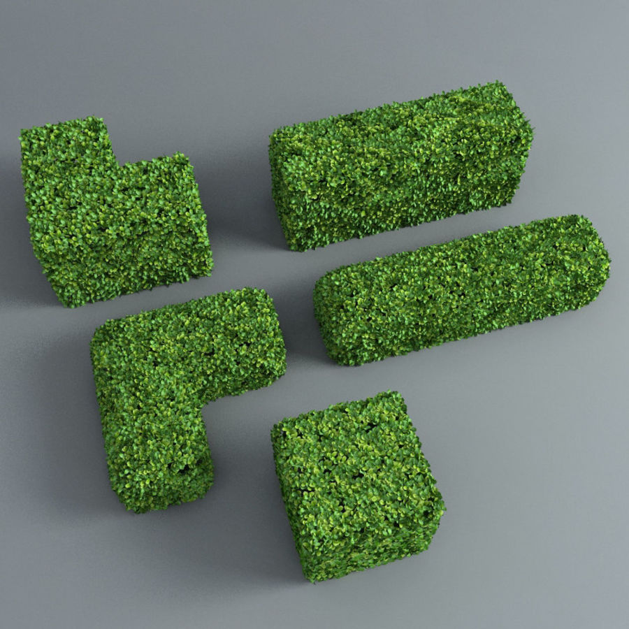 Hedge cubes royalty-free 3d model - Preview no. 1