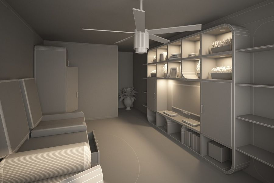 Interior royalty-free 3d model - Preview no. 7
