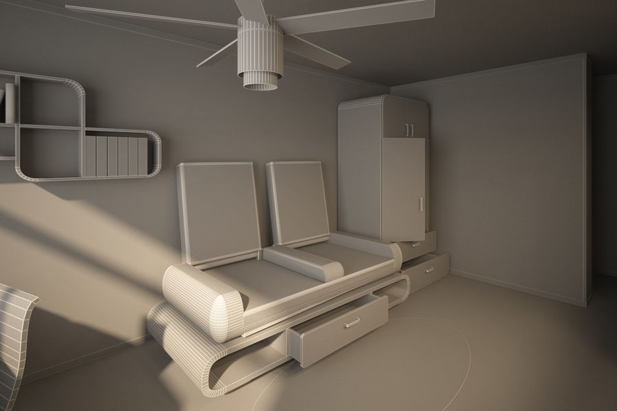 Interior royalty-free 3d model - Preview no. 6