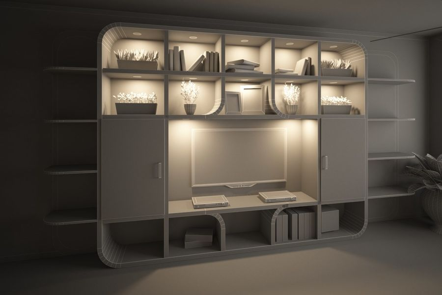 Interior royalty-free 3d model - Preview no. 8