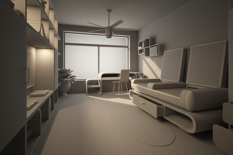 Interior royalty-free 3d model - Preview no. 5