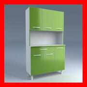 Cupboard green 3d model