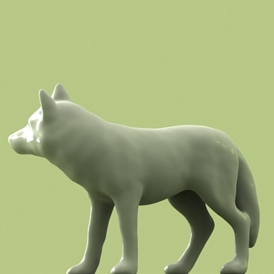 WOLF royalty-free 3d model - Preview no. 4