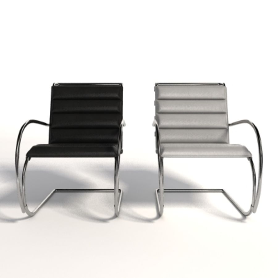 Fotel Mies Van Der Rohe MR Lounge royalty-free 3d model - Preview no. 6