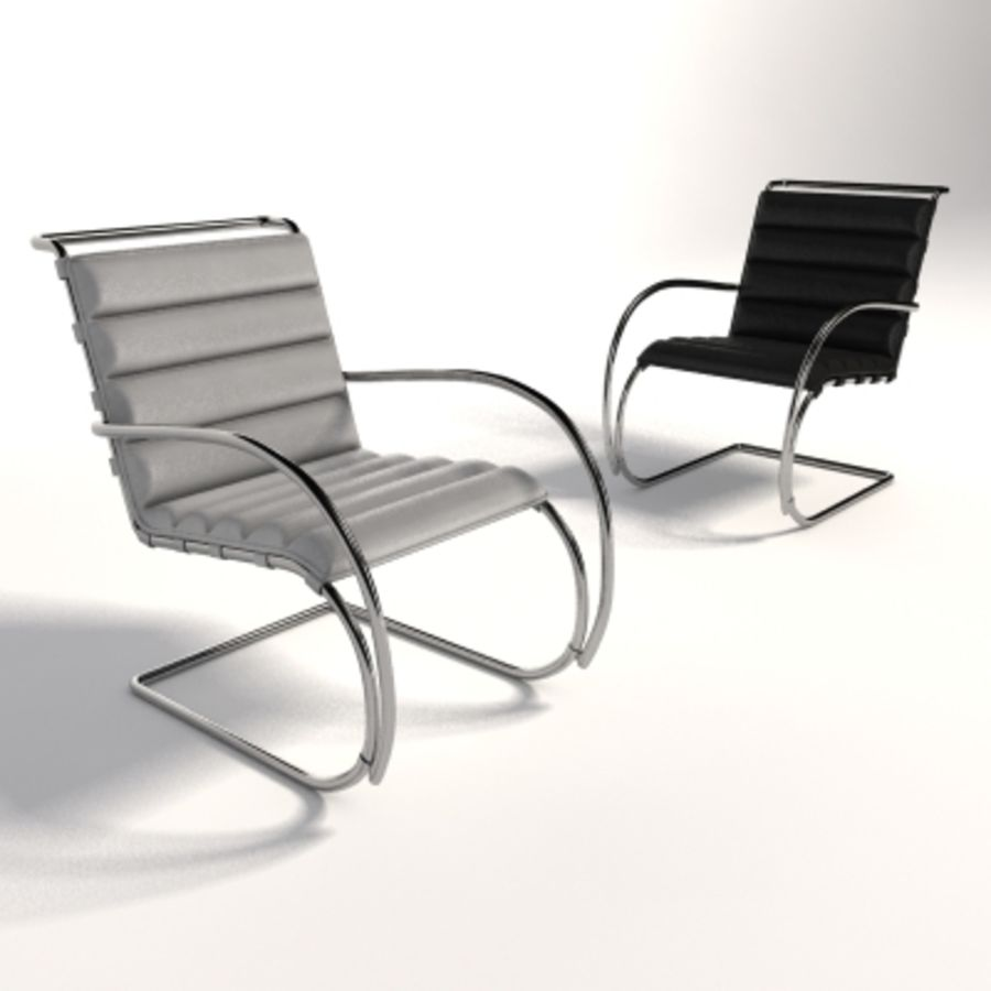 Fotel Mies Van Der Rohe MR Lounge royalty-free 3d model - Preview no. 7