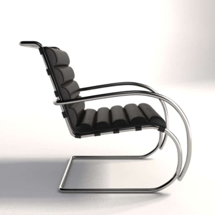Fotel Mies Van Der Rohe MR Lounge royalty-free 3d model - Preview no. 3