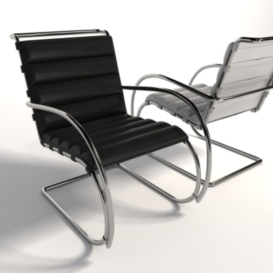 Mies Van Der Rohe Mr Lounge Chair 3d Modell 35 Xsi Ma Lwo Dxf