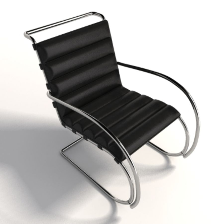 Fotel Mies Van Der Rohe MR Lounge royalty-free 3d model - Preview no. 4