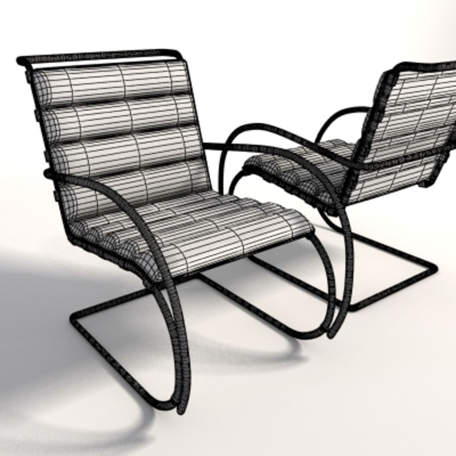 Surprising Mies Van Der Rohe Mr Lounge Chair 3D Model 35 Xsi Ma Squirreltailoven Fun Painted Chair Ideas Images Squirreltailovenorg