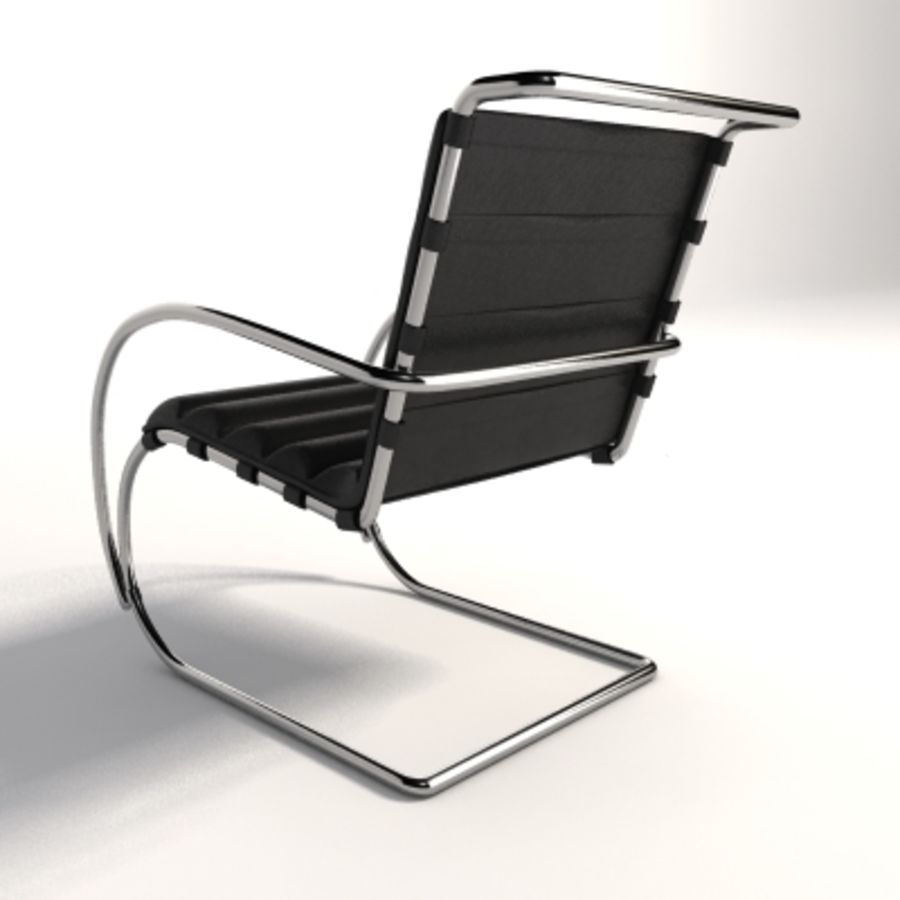 Fotel Mies Van Der Rohe MR Lounge royalty-free 3d model - Preview no. 2