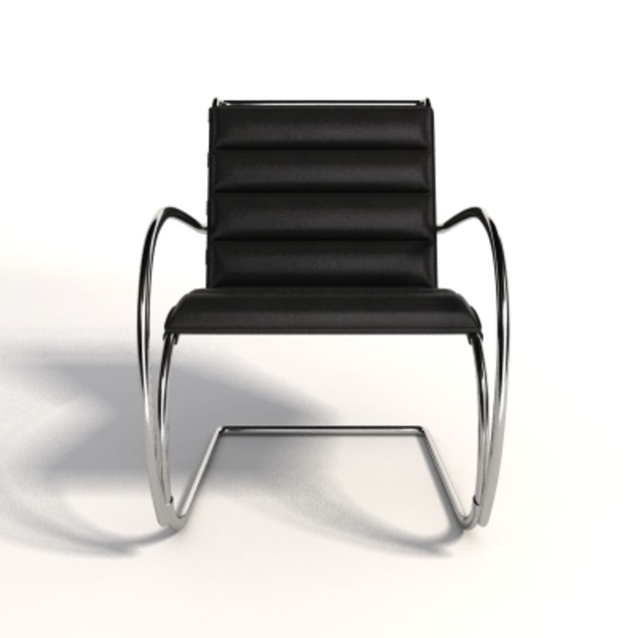 Fotel Mies Van Der Rohe MR Lounge royalty-free 3d model - Preview no. 5