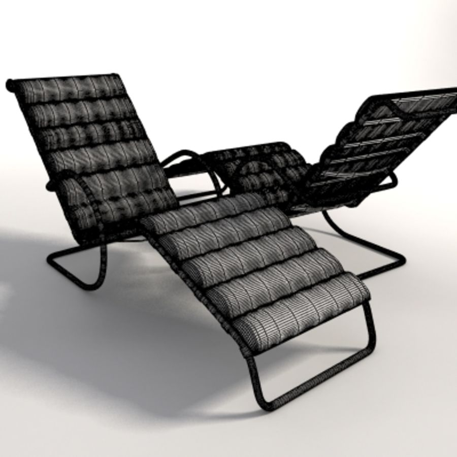 Mies Van Der Rohe MR Ayarlanabilir Şezlong royalty-free 3d model - Preview no. 7