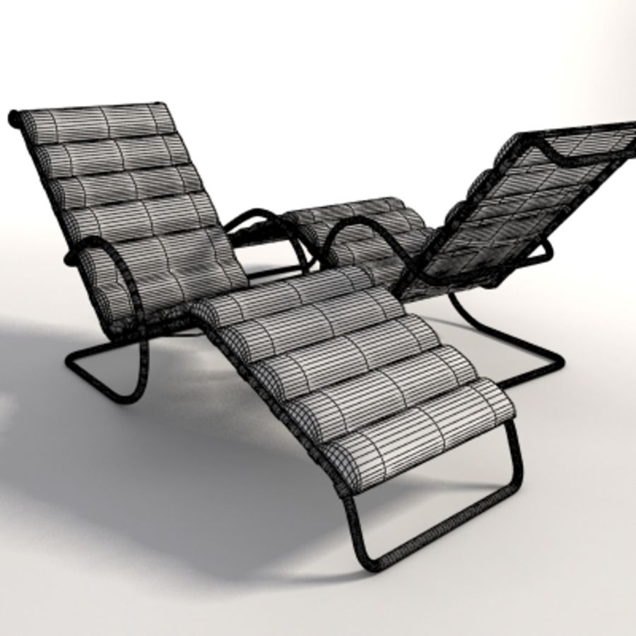 Mies Van Der Rohe MR Ayarlanabilir Şezlong royalty-free 3d model - Preview no. 8