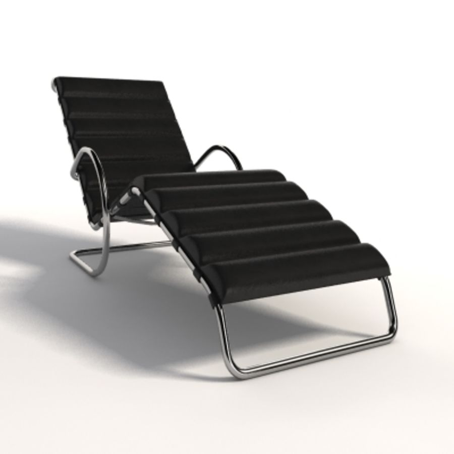 Mies Van Der Rohe MR Ayarlanabilir Şezlong royalty-free 3d model - Preview no. 4