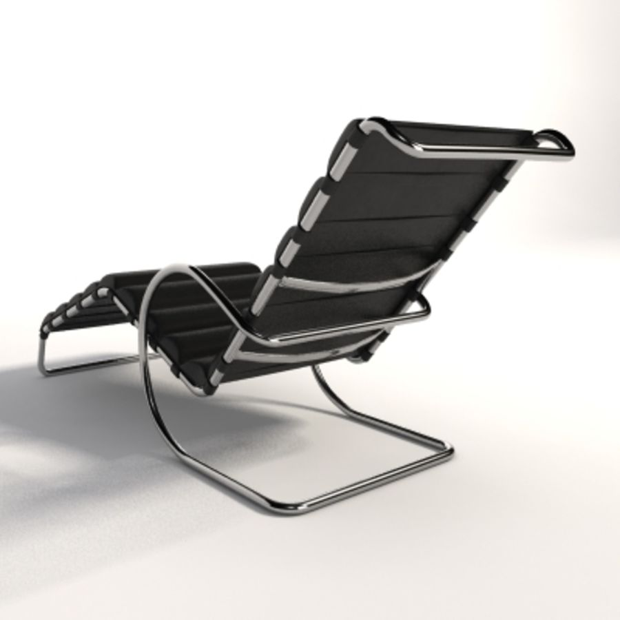 Mies Van Der Rohe MR Ayarlanabilir Şezlong royalty-free 3d model - Preview no. 5