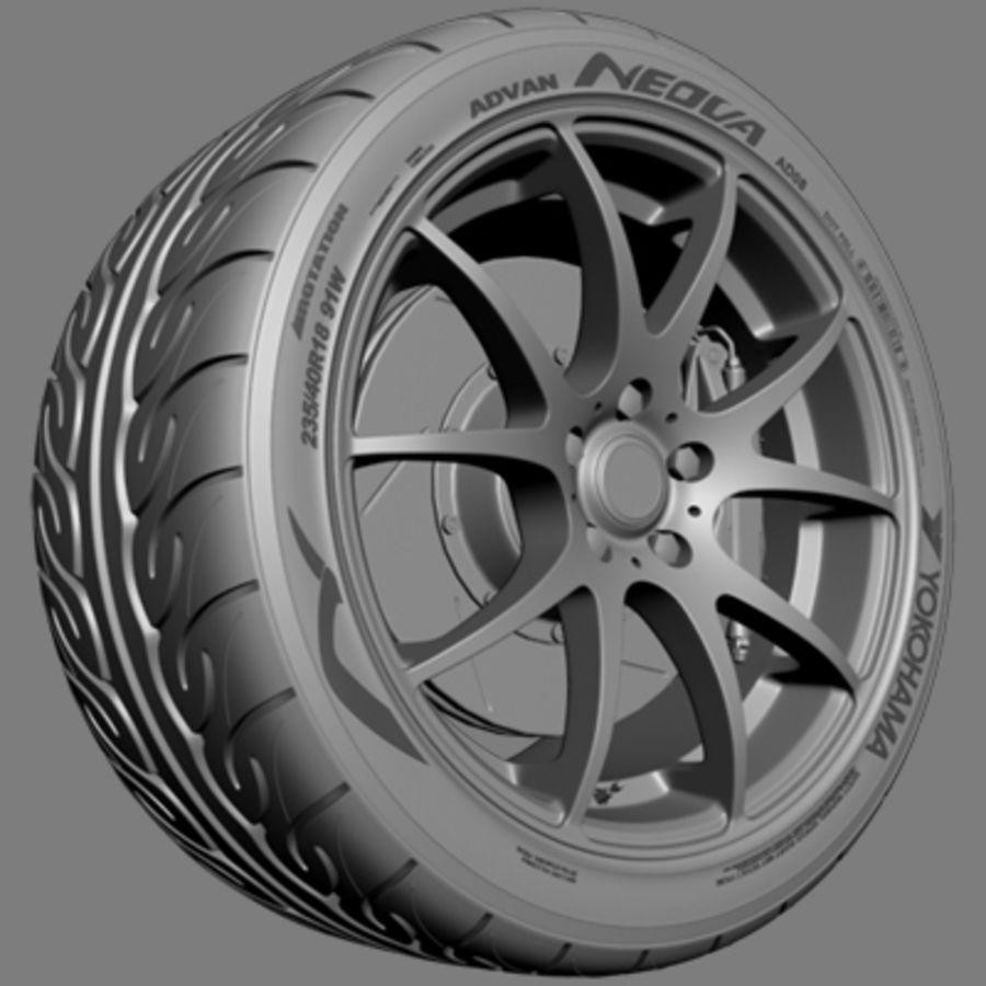 Колесо VMR V713 royalty-free 3d model - Preview no. 4