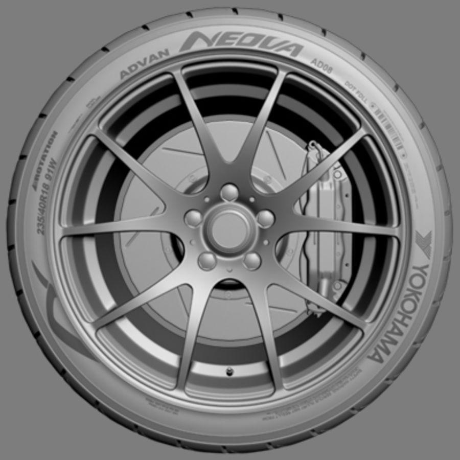 Колесо VMR V713 royalty-free 3d model - Preview no. 2