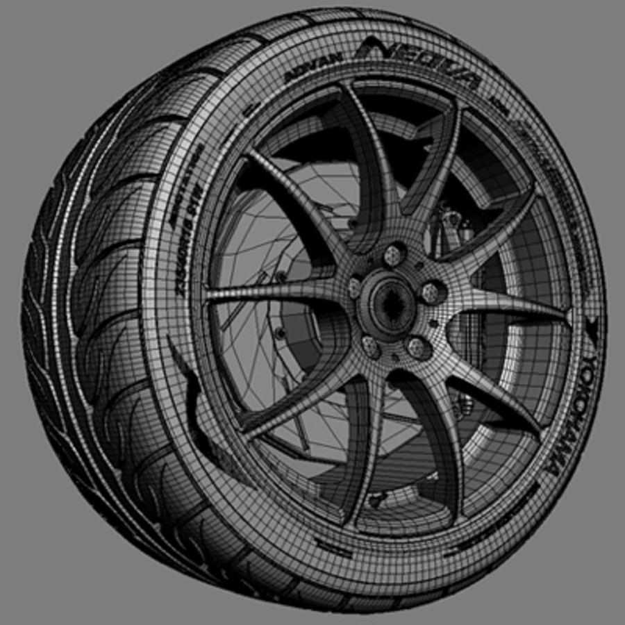 Колесо VMR V713 royalty-free 3d model - Preview no. 5