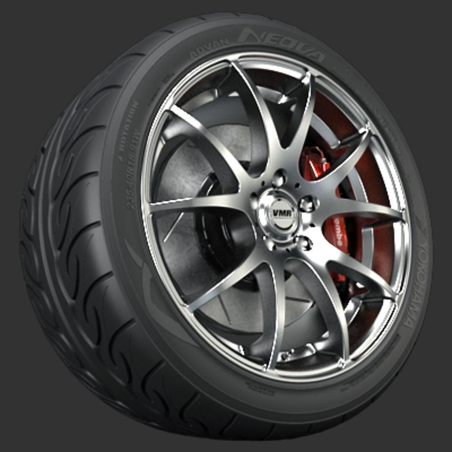 Колесо VMR V713 royalty-free 3d model - Preview no. 1