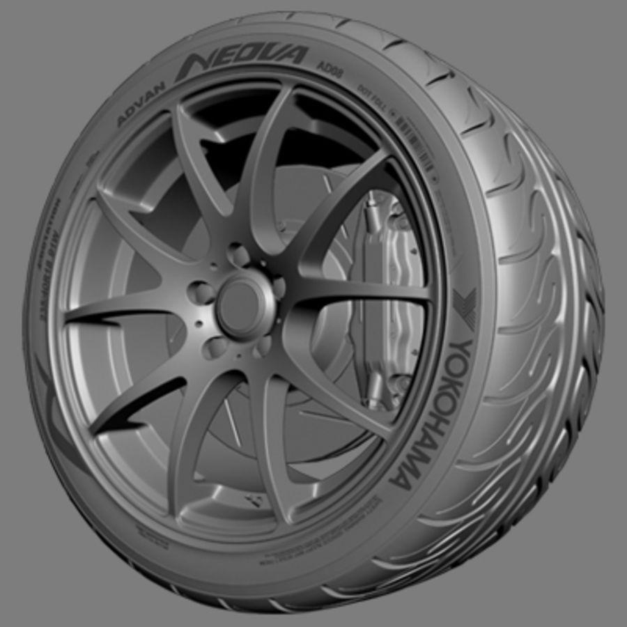 Колесо VMR V713 royalty-free 3d model - Preview no. 3