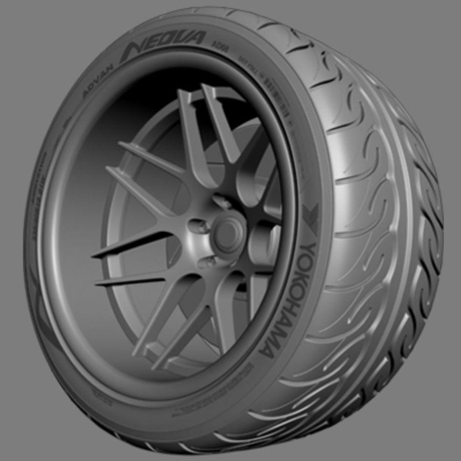 Vorsteiner V308 Wheel royalty-free 3d model - Preview no. 3