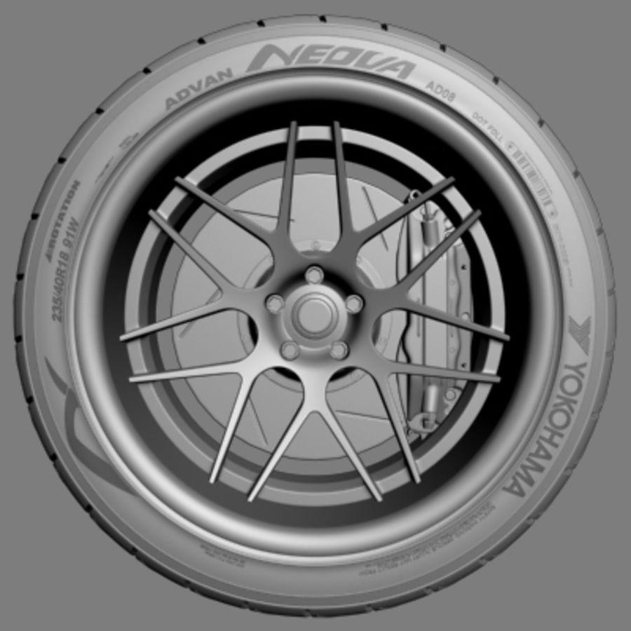 Vorsteiner V308 Wheel royalty-free 3d model - Preview no. 2