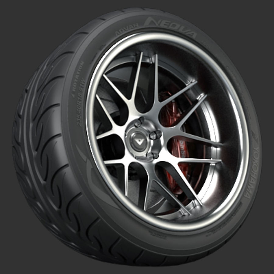 Vorsteiner V308 Wheel royalty-free 3d model - Preview no. 1