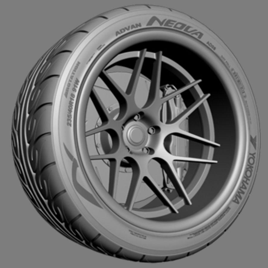 Vorsteiner V308 Wheel royalty-free 3d model - Preview no. 4