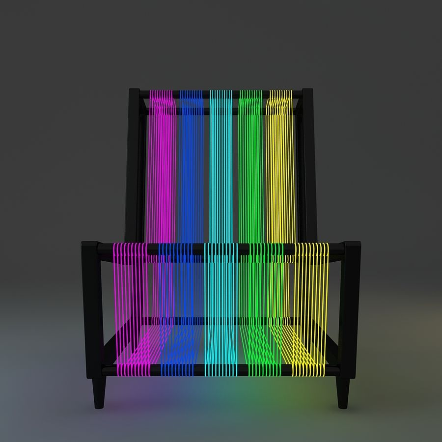 Disco Chair With Neon Lights 3D Model $39 -  unknown  max