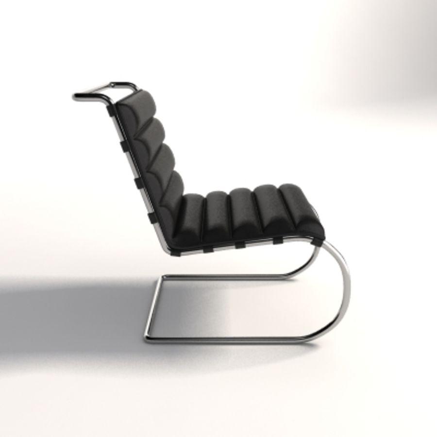 Mies Van Der Rohe MR Lounge Kolsuz Sandalye royalty-free 3d model - Preview no. 3