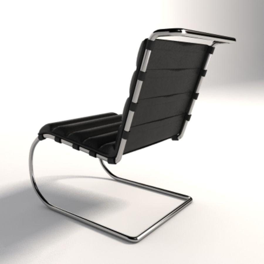 Mies Van Der Rohe MR Lounge Kolsuz Sandalye royalty-free 3d model - Preview no. 2