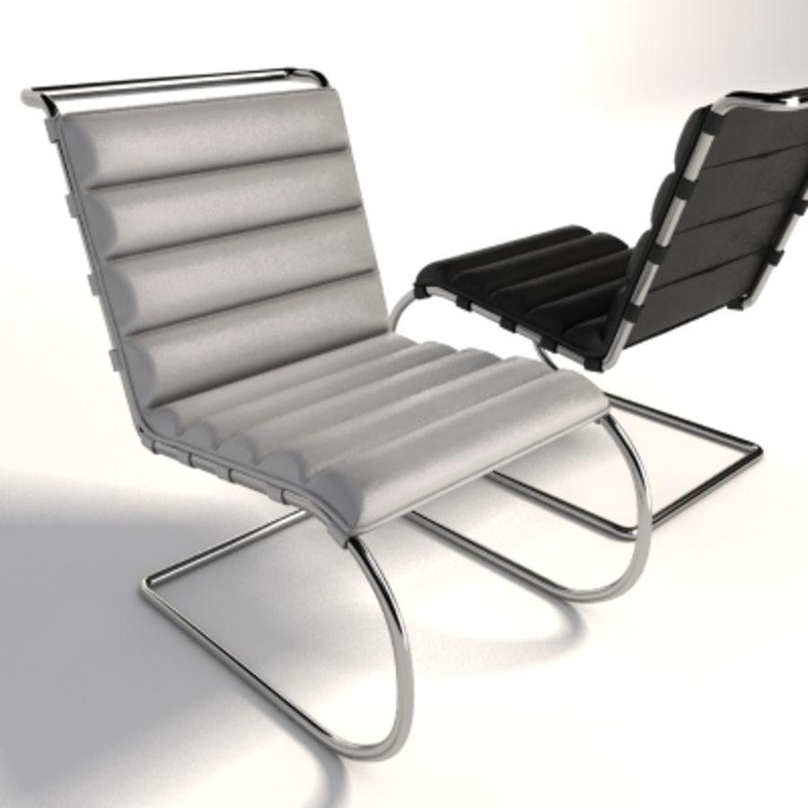 Mies Van Der Rohe MR Lounge Kolsuz Sandalye royalty-free 3d model - Preview no. 6
