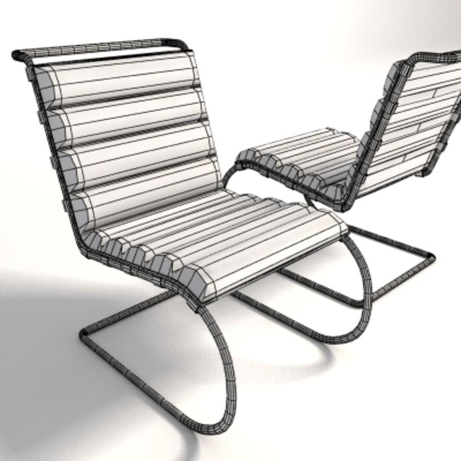 Mies Van Der Rohe MR Lounge Kolsuz Sandalye royalty-free 3d model - Preview no. 8