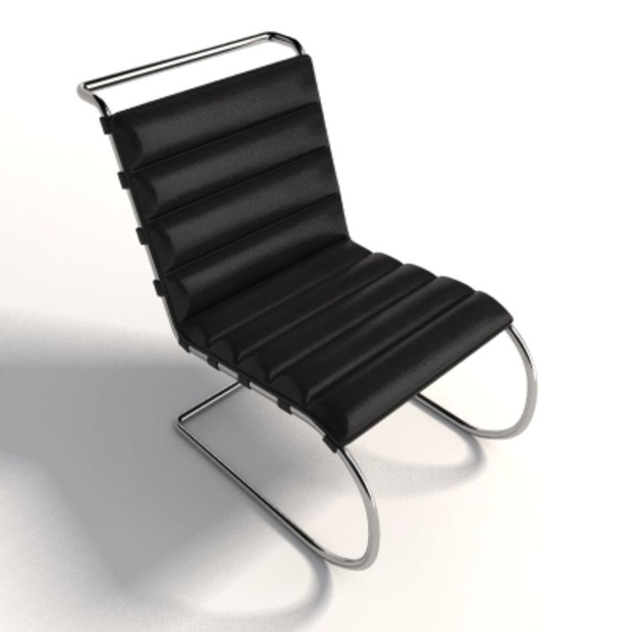 Mies Van Der Rohe MR Lounge Kolsuz Sandalye royalty-free 3d model - Preview no. 5