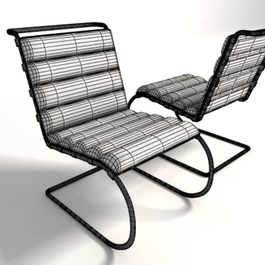 Mies Van Der Rohe MR Lounge Kolsuz Sandalye royalty-free 3d model - Preview no. 7