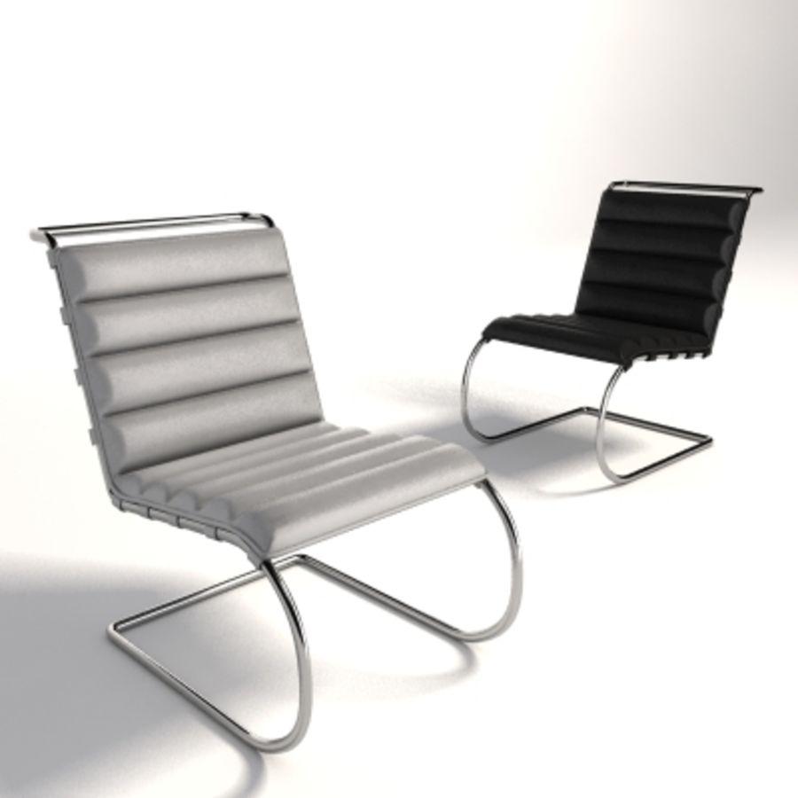 Mies Van Der Rohe MR Lounge Kolsuz Sandalye royalty-free 3d model - Preview no. 4